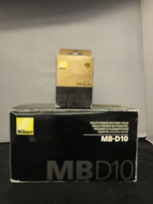 Nikon MB-D10 Multi-Power Battery Grip-WITH NIKON EN-EL3e-NEW-ORIGINAL NIKON