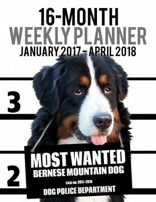 2017-2018 WEEKLY PLANNER - MOST WANTED BERNESE MOUNTAIN DOG: By Ironpower NEW