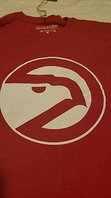 c8e2abe699d Atlanta Hawks Mitchell   Ness Hardwood Classics Throwback Tri-Blend T-Shirt  (L
