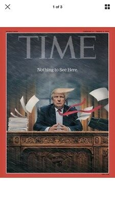 Rare New Sealed TIME Magazine,Trump:Nothing To see Here,Double Issue,Feb 27 2017