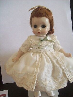 "Vintage Madame Alexander 8"" Slw  Doll Tagged  ""party Time Vintage, """
