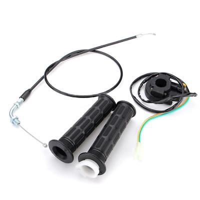 7/8'' Throttle Cable Handlebar Grip Kill Switch For 49cc-80cc Motorized Bicycle