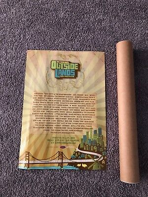 2008 OUTSIDE LANDS MUSIC FESTIVAL Poster - Radiohead, Tom Petty, Jack Johnson
