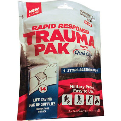 Adventure Medical Kits Rapid Response Trauma Pak with QuickClot First Aid Kit -