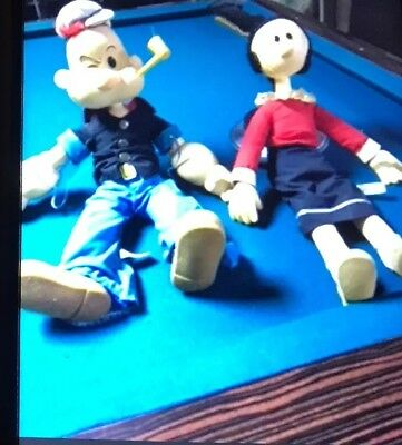 Popeye and Olive Oyl Collector Doll Set by Presents of Hamilton Gifts 1980s