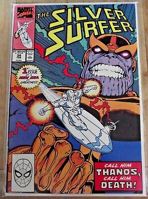 Silver Surfer #34 Call him Thanos Call him Death 1990 Infinity War VF