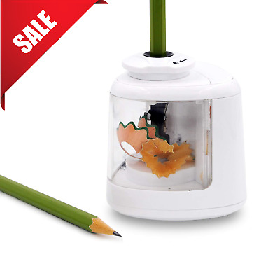 Electric Pencil Sharpener Battery Operated School Home Office Pencils Sharpening