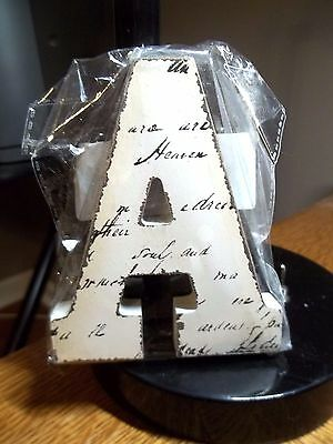 """New Off White Block Letter Blk Handwriting Letter """"a""""  4.5""""t X 3.75"""" W"""