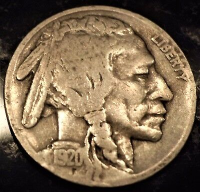 1920-S SEMI KEY DATE Buffalo Nickel  FULL DATE PARTIAL HORN