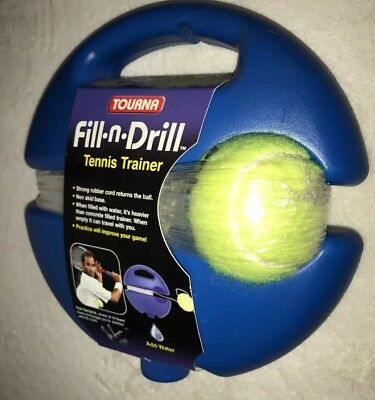 Tourna Fill n Drill Tennis Trainer Practice Training Kids Aid Youth Tool