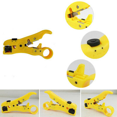 YELLOW Universal Wire Stripping Tool Cable Stripper Cutter Plier Tool Coax