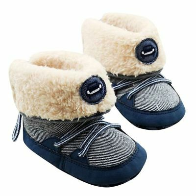 Infant Baby  Winter Warm Snow Boots Toddler Kids Anti-Slip Soft Sole Crib Shoes