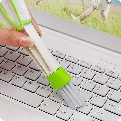 Car Vent Air-Condition Cleaner Keyboard Duster Double Heads Cleaning Brush MA