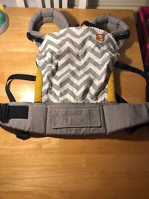Tula Standard Ergonomic Baby Carrier: Gray Zig Zag (Excellent Condition)