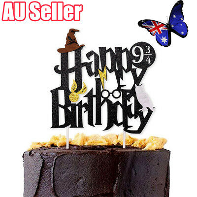 Harry Potter Happy Birthday Cake Topper Bunting Party Decoration Anniversary BO