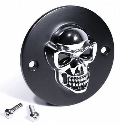 3D Skull Ignition Cover Black for Harley Sportster Pointcover Skull