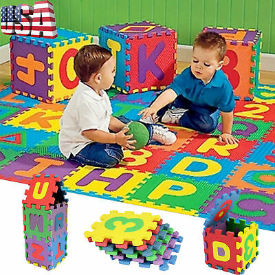 36PCS Baby Child Kids Number Alphabet Puzzle Foam Maths Educational Toy Gift USA