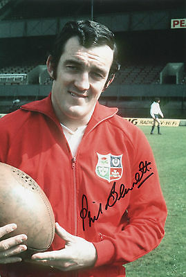 PHIL BENNETT In Person Signed 12x8 Photo WALES RUGBY UNION Proof Sport COA