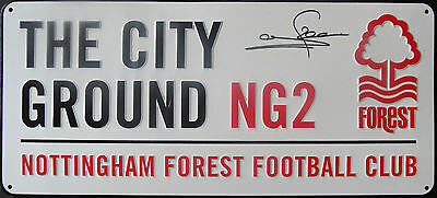 STUART PEARCE In Person Signed Replica NOTTINGHAM FOREST CITY GROUND Sign COA