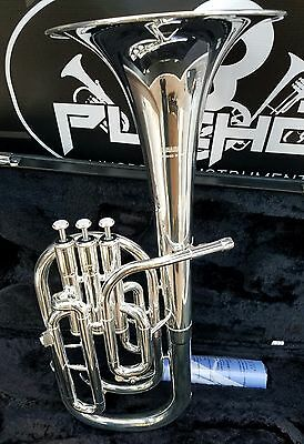 Brass Yamaha Alto Horn 3 Piston Eb Yah-203s Silver-plated From Japan Free Shipping