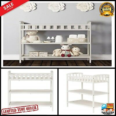 Infant Baby safety security comfort Nursery Furniture Changing Table w 2 shelves