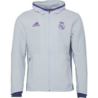 Real Madrid Presentation Jacket Crystal White/Super Purple