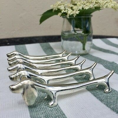 Vintage French Knife Rests, Dachshund Design. Perfect Dog Lovers Christmas gift!