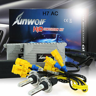 55W HID XENON Driving Lamp Fog Lights Conversion Ballast KIT H7 6000K White