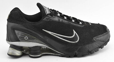 524942587a46e9 Mens Nike Shox Turbo + Iv 2006 Running Shoes Size 7 Black Silver Gray  315378 001