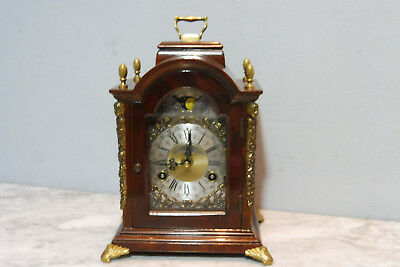 Dutch Clock Warmink Wuba Clock Table Clock in Nutwood Shelf Mantel Old Clock
