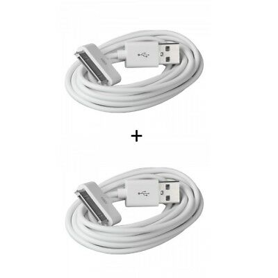 2x USB Datenkabel Ladekabel für Apple iPod / iPad / iPhone 4 4S 3 3G 1m