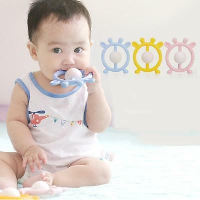 Infant Baby Rattle Teether Handbell Toddler Teething Ring Shaking Bell LA
