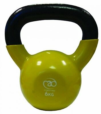 (6 kg, Yellow) - Fitness-Mad Kettlebell - Yellow, 6 Kg. Fitness Mad. Best Price