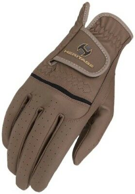 (6, Brown) - Heritage Premier Show Glove. Heritage Products. Free Delivery