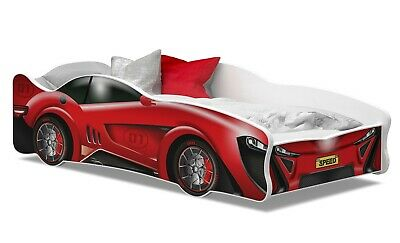 TODDLER CHILDRENS F1 RACE CAR BED 160x80 FOR KIDS +MATTRESS +FREE FAST DELIVERY