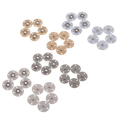 5 Sets Alloy Invisible Snap Fasteners Popper Press Button for Clothes Jacket