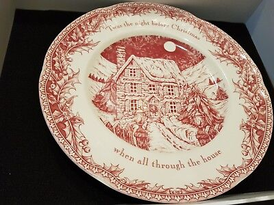 Johnson brothers Twas the night before Christmas dinner plate