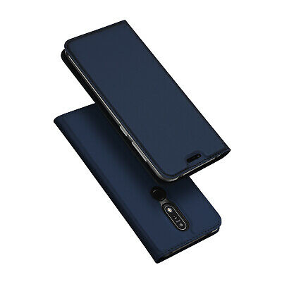 DUX DUCIS Pro Skin Series Faux Leather Flip Case Cover for Nokia 7.1 - Blue