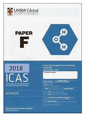 ICAS 2018 PAST Papers Year 8 (Paper F) All subjects Largest No  of