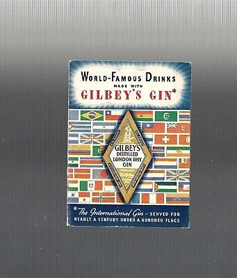 RARE Collectible 1930's World Famous Drinks, GILBEY'S GIN Recipe Booklet