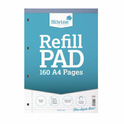 Silvine A4 Refill Pad 160 Pages Ruled Narrow Feint and Margin