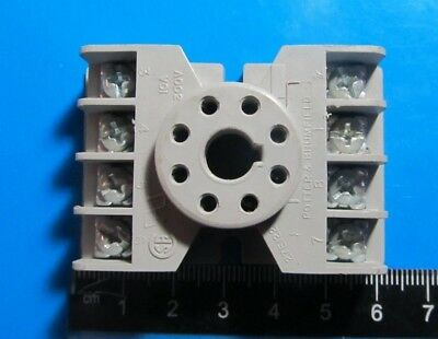Relay,Mounting Socket Terminal,Potter & Brumfied,27E122,8 Holes,10A 300V,1 Pc