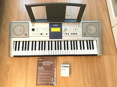 YAMAHA PSR-E323 DIGITAL Piano/ Keyboard/ Organ + Original Box + Music Rest
