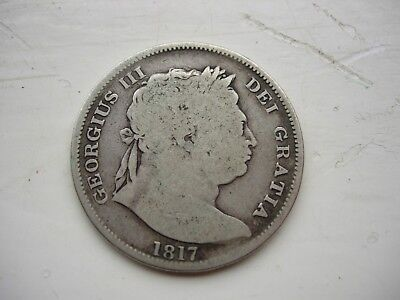 1817 Half Crown Bull Head First Type