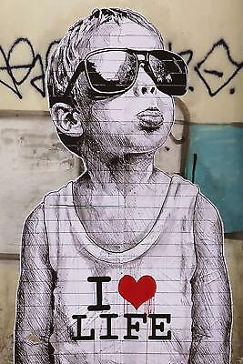 Banksy KISSING COOPERS   poster  59.4cmX42CM   A2