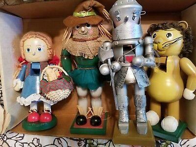 Collectible Wizard of Oz Nutcrackers - set of 4, excellent condition.