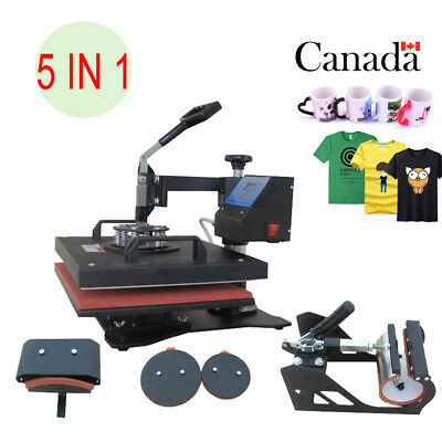 5IN1 38 X 29CM T-Shirt Plate Heat Press Transfer Machine Sublimation Swing Away