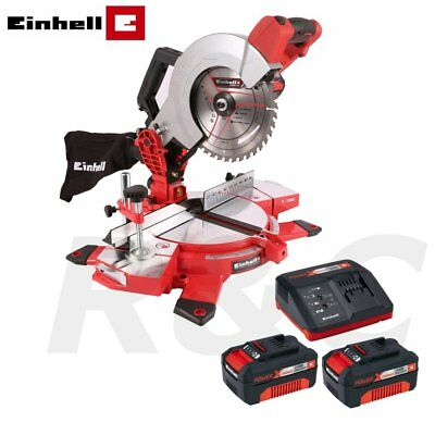Einhell 18V Cordless 210mm Mitre Saw with 2 x 3Ah Lion Batteries & Charger