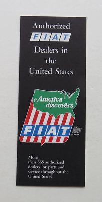 1973 Fiat Authorized Dealers in the United States Brochure Vintage Original