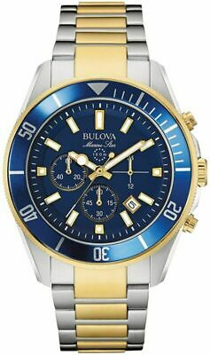 Bulova Men's 43mm Marine Star Two-Tone Chronograph Bracelet Watch
